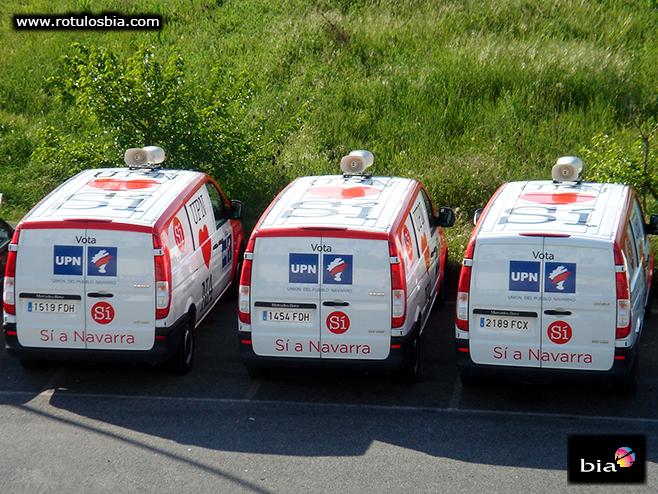 vehiculos rotulados para promoción campaña política