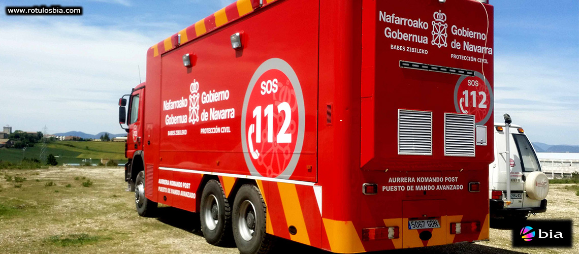 Rótulación vehículo señalización emergencias